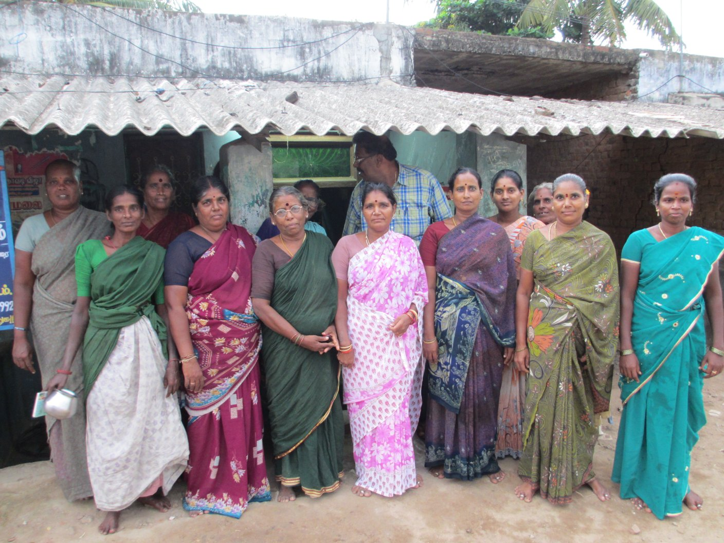 Ms. Kuppamal and the Self-Help-Group ladies from Musaravakkam